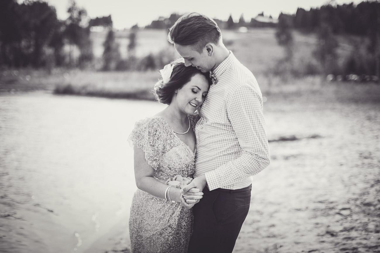 Brudpar tränar på bröllopsvalsen