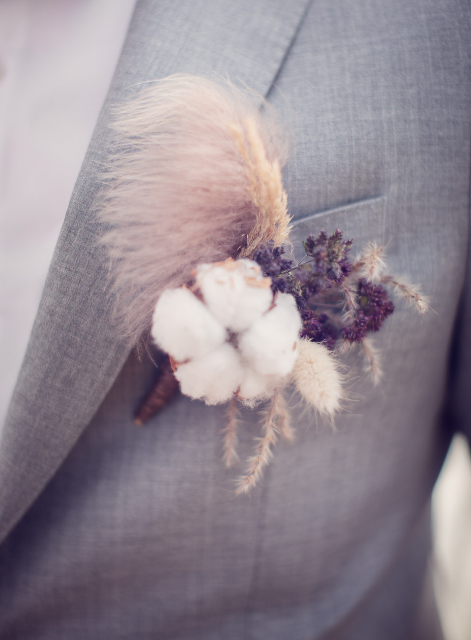Höstkänsla på Korsage på brudgum