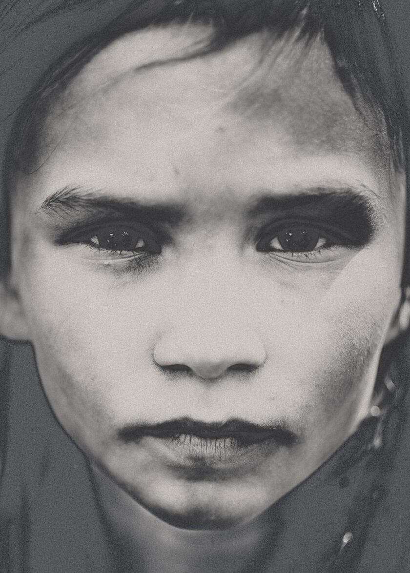 Porträtt av ett barns ansikte